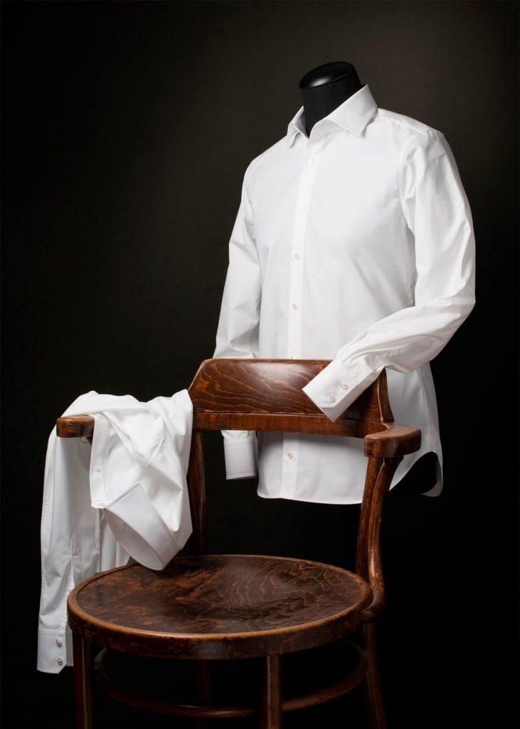 Slimfit wit overhemd Ceesnco